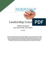 Leadership Concepts- Mohsin Rasheed