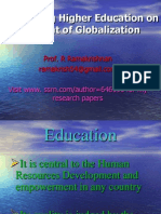 Redefining Higher Education on Account of Globalization