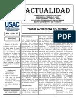 """Sobre la vigencia del diezmo"" Jorge Lemus Chávez"