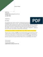 AMIT KUSHWAHA's Resignation Letter