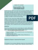 BASICS OF TAXATION (Income Tax Ordinance, 1984)  Updated till Finance Act. 2013 by Prof. Mahbubur Rahman