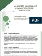 REGLAMENTO NACIONAL DE ADMINISTRACIÓN DE TRANSPORTE.pptx