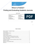 WheretoPublish_Finding and Evaluating Academic Journals