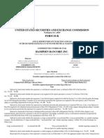 Hampden Bank's Annual Report tothe SEC
