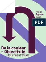 Journée d'étude « De la couleur – Objectivité »