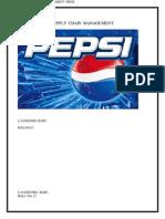 Supply Chain Management Pepsi l.nagendra Babu Rollno 27