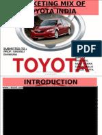 Marketing Mix of Toyota India