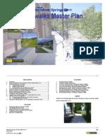 Sidewalks Master Plan