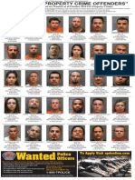 Most wanted property crime offenders, October 2014