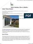 Double-Duty Solar Solution - How to Build a Solar Water Heater - Mother Earth News