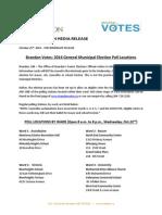 Brandon Poll Locations