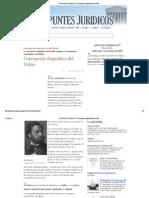 APUNTES JURIDICOS™_ Concepcion dogmatica del Delito
