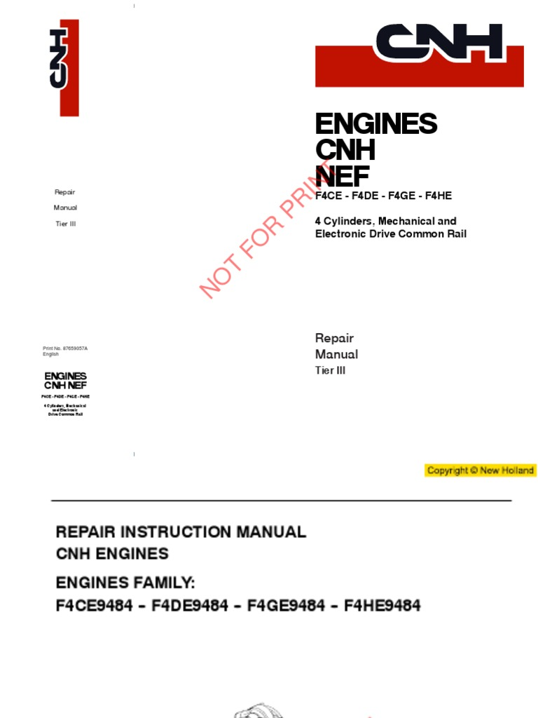 New Holland 82 86 Tractor Manuals Ebook 450 Dozer Fuel Injector Diagram On Cav Pump Parts Manual Beritabahagia Us Array Case Kobelco Iveco Komatsu F4ce F4de F4ge F4he Service Rh Scribd Com