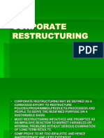 Need for Corporate Restructuring 22 Nd July,14