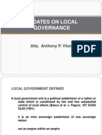 Updates on Local Governance