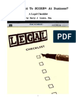 SCORE Legal Checklist - So You Want To SCORE® At Business  by Barry J. Lipson, Esq.