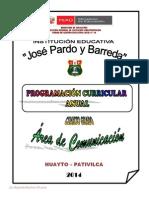 PROGRAMACIÓN  ANUAL CUARTO 2014.docx