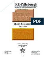 SCORE-Pittsburgh Chair's Scrapbook 2007 - 2009, Barry J. Lipson, Esq., Chair