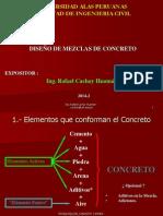 DISEÑOS DE MEZCLAS DE CONCRETO -  Ing CACHAY   -  ALAS 2014-2.ppt