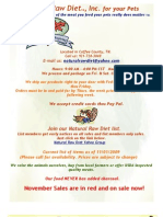 Natural Raw Diet, Inc. Product List. 11-01-09