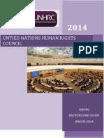 Background Guide UNHRC JKMUN 2014