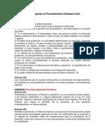 Artículos del Procedimiento Ordinario Civil.docx