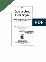 Days of Awe Days of Joy