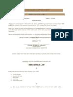 2010 Mercantile Law Bar Examination Question