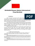 Ketidakberdayaan Hukum Internasional Yang Memihak.docx