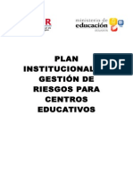 Plan Institucional de Gestión de Riesgos para Centros Educativos.doc