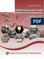 Produk Domestik Regional Bruto 29 Kabupaten Di Papua 2013