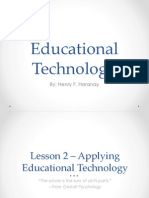 Applying Educational Technology