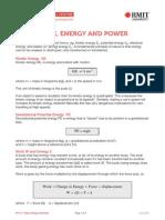Work Energy Power