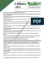 Current Affairs April 2014 Www.bankingawareness.com