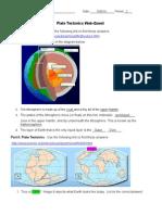 plate tectonics webquest