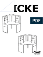 IKEA Micke Corner Workstation AA 819356 4 Pub