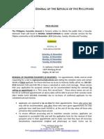 Press Release - Regina Outreach Nov 1-4. 2014 JMMW232014.pdf