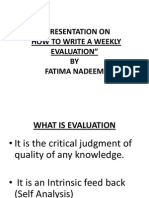 A Presentation on Evaluation
