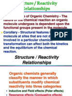 effect of structure on reactivity of compound