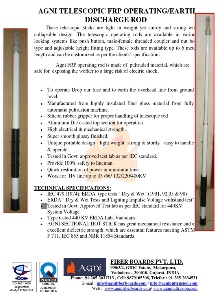 telescopic-frp-rod pdf | Fibre Reinforced Plastic | Voltage