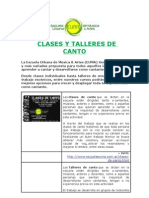 Escuela Euma - Clases y Talleres de Canto Cursos de Verano 2009-2010