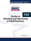 Guide to Starting and Operating a Small Business(1)