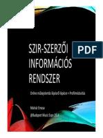 Szerzői Információs Rendszer bemutatása