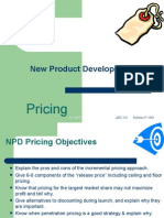 New Product Development Pricing--handout