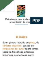 metodologia para la elaboracion y presentacion de ensayos