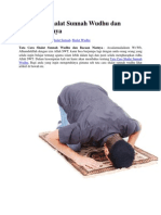 Tata Cara Shalat Sunnah Wudhu Dan Bacaan Niatnya
