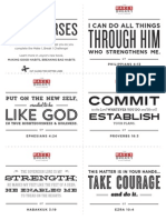 Bible Verses and Reminder Cards