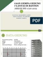 Perencanaan Gempa Gedung Hotel 10 Lantai Di Banten (Print)