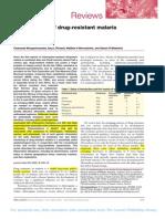 epidemiology of drug resistant malaria Lancet.pdf