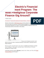 General Electric's Financial Management Program- The Most Prestigious Corporate Finance Gig Around